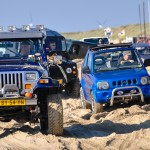 Four Wheel Drives on the beach, they all enjoy driving the course in the soft sand and a unique day at the beach.  ANVT 4WD Beach Event - an annual Four Wheel Drive Beach event where these types of vehicles are allowed on the beach. There is a nice trail on the beach with many holes and hills in the soft sand. A unique opportunity to practice driving skills in the lowest gear on the beach