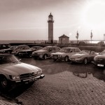 Classic en Vintage Cars at the Lighthouse, all bright and shiny. An excellent moment to play with photo contrast and to enjoy the sunset.